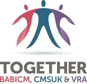 Together logo - bringing together BABICM, CMSUK and VRA